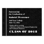 Nueva invitación negra del graduado cualquier año