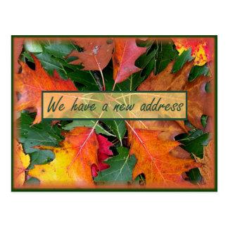 Nueva invitación rústica de la dirección postal