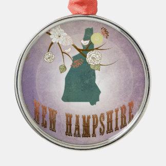 Nueva lavanda del dulce del mapa del estado de Ham Ornamento Para Reyes Magos