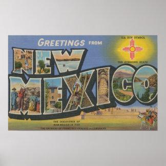 Nueva letra ScenesNew México de MexicoLarge Póster