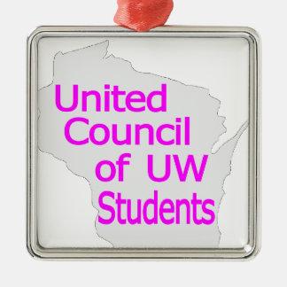 Nueva magenta unida del logotipo del consejo en ornaments para arbol de navidad