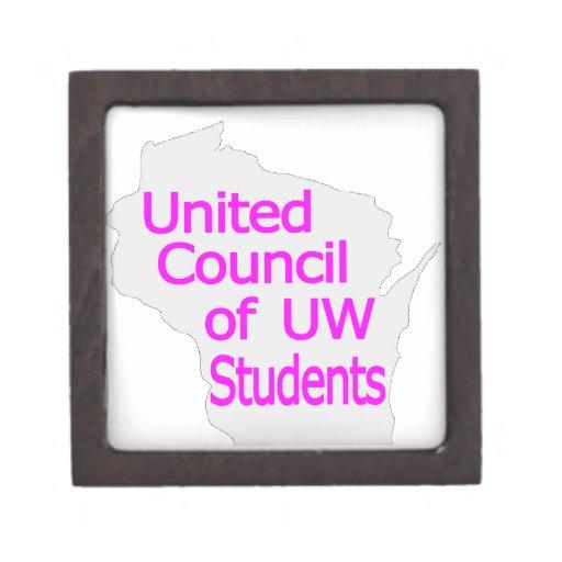 Nueva magenta unida del logotipo del consejo en gr caja de joyas de calidad