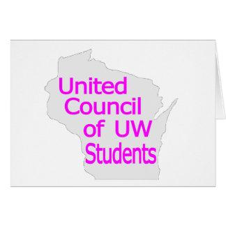 Nueva magenta unida del logotipo del consejo en gr felicitacion