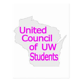 Nueva magenta unida del logotipo del consejo en postal