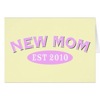 Nueva mamá 2010 tarjeta de felicitación