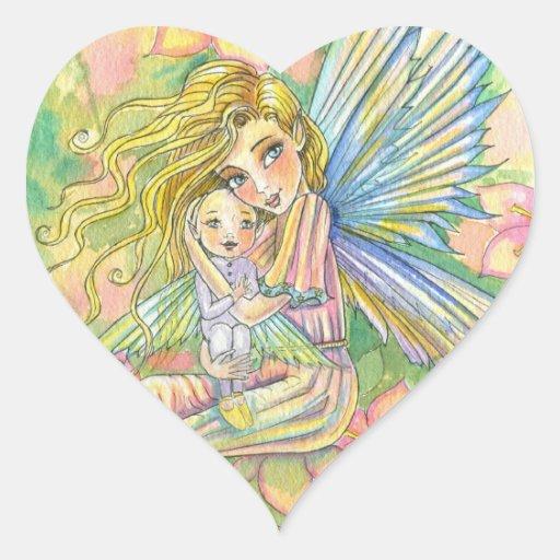 Nueva mamá Baby Fairy Stickers Colcomanias De Corazon