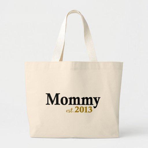 Nueva mamá clásica 2013 bolsa lienzo