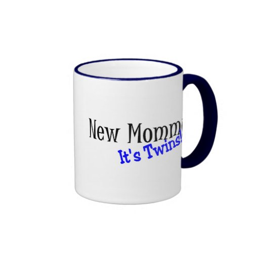 Nueva mamá de gemelos taza de café