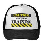 Nueva mamá de la precaución en el entrenamiento gorras de camionero