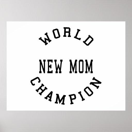 Nueva mamá del campeón retro fresco del mundo impresiones