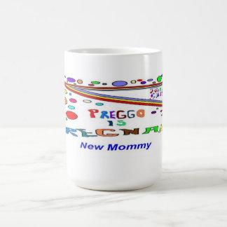Nueva mamá embarazada tazas de café
