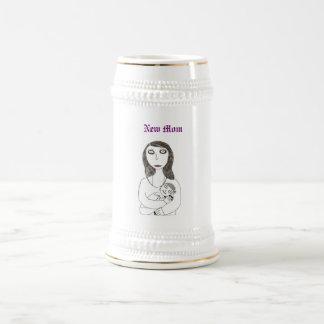 Nueva mamá espeluznante jarra de cerveza