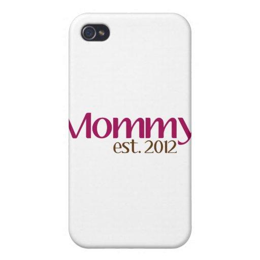 Nueva mamá Est 2012 iPhone 4 Carcasas