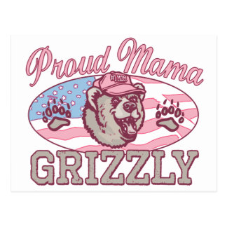 Nueva mamá orgullosa Grizzly Postales