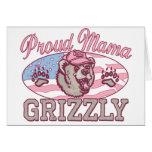 Nueva mamá orgullosa Grizzly Tarjeta