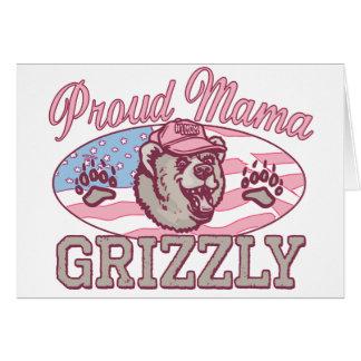 Nueva mamá orgullosa Grizzly Tarjeta De Felicitación