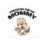 Nueva mamá orgullosa tarjetas postales