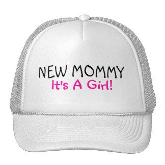 Nueva mamá su un negro del rosa del chica gorras de camionero