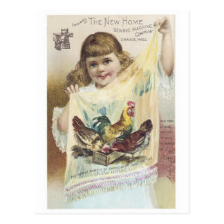 Nueva máquina de coser casera tarjetas postales