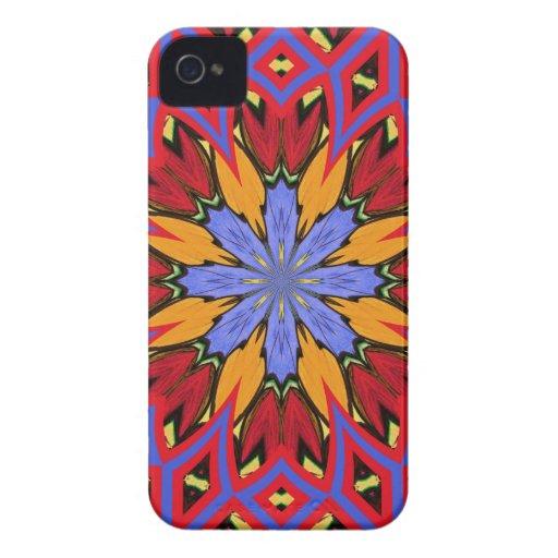 Nueva maravilla azul retra y caja roja del iPhone Case-Mate iPhone 4 Funda