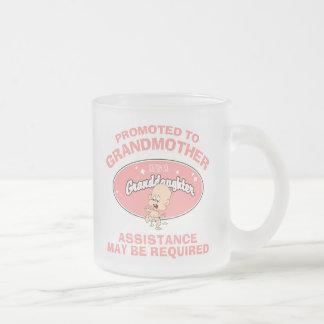 Nueva nieta de la nueva abuela divertida tazas de café