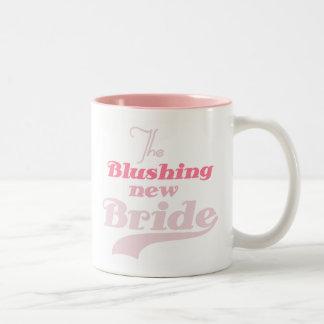 Nueva novia de ruborización taza dos tonos
