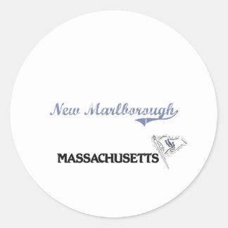 Nueva obra clásica de la ciudad de Marlborough Etiquetas Redondas