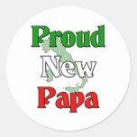 Nueva papá orgullosa pegatinas