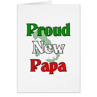 Nueva papá orgullosa tarjeta de felicitación