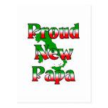 Nueva papá orgullosa tarjetas postales
