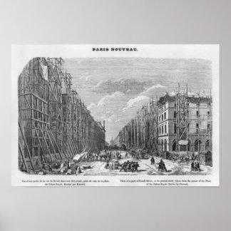Nueva París vista de una pieza de la calle de Riv Impresiones