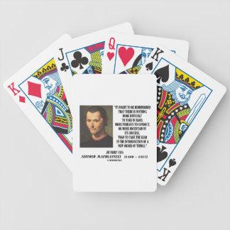 Nueva pedido de Niccolo Machiavelli de la cita de  Baraja Cartas De Poker