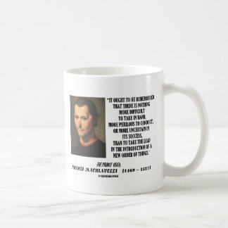 Nueva pedido de Niccolo Machiavelli de la cita de Tazas De Café