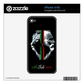 Nueva piel libia de la bandera iphone4/4s calcomanías para iPhone 4S