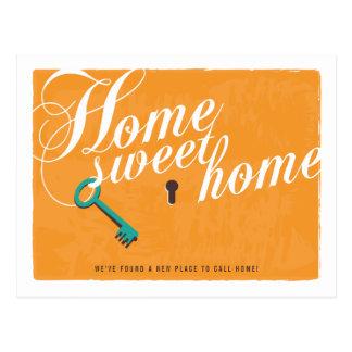 Nueva postal anaranjada brillante de la invitación