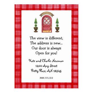 Nueva postal de la dirección de la puerta roja
