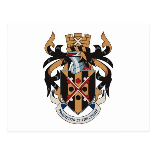 Nueva postal del escudo de armas de Maryland