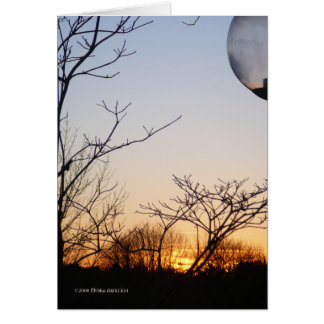Nueva puesta del sol del río tarjeta de felicitación