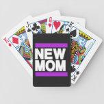 Nueva púrpura de la mamá barajas de cartas