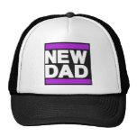 Nueva púrpura del papá gorras de camionero