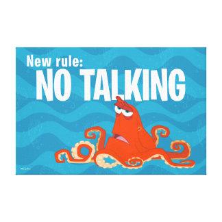 Nueva regla de Hank el  … el ningún hablar Impresion En Lona
