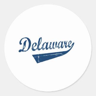 Nueva revolución de Delaware Etiqueta Redonda