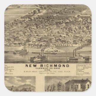 Nueva Richmond Ohio Pegatina Cuadradas