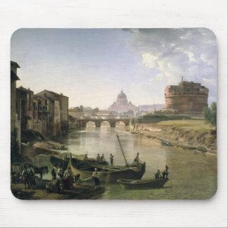 Nueva Roma con el Castel Sant'Angelo Tapete De Ratones