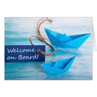 Nueva serie del alquiler - recepción al equipo - a tarjeta de felicitación