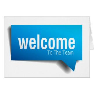 Nueva serie del alquiler - recepción al equipo - tarjeta de felicitación