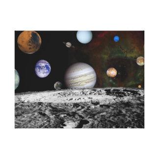 Nueva Sistema Solar Impresión En Lienzo