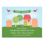 Nueva tarjeta casera del suburbio invitaciones personales