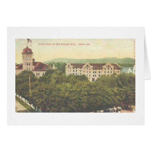 Nueva tarjeta de Eugene Oregon del hotel de Osborn