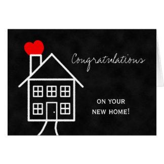 Nueva tarjeta de felicitación casera de la enhorab